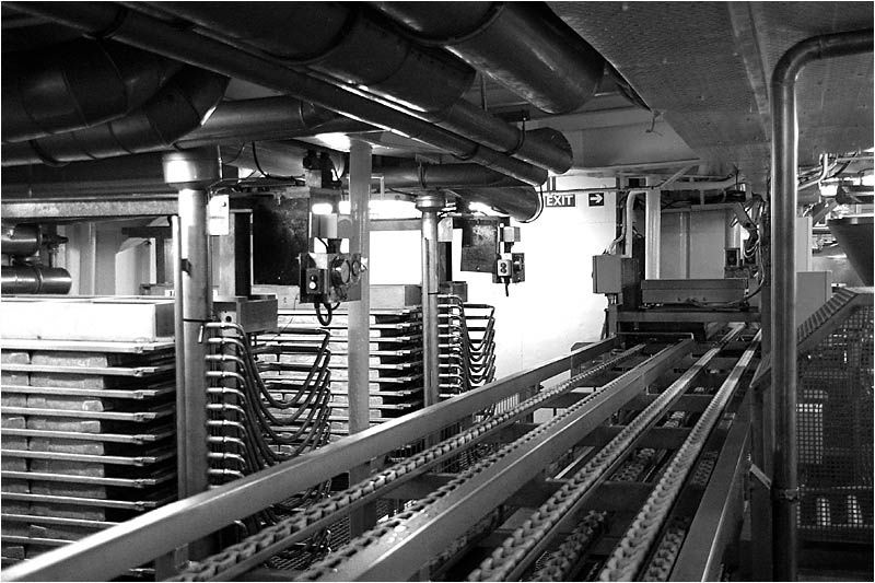 """le chalutier usine """"Surimi"""" de la compagnie des Pêches de Saint Malo ouvre ses portes au public."""