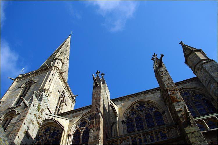 la cathédrale Saint Vincent à Saint Malo intra-muros.