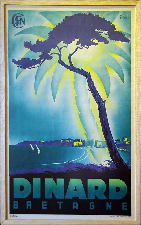 Exposition d'affiches de la belle époque dans la villa Roches Brunes à la pointe de la Malouine à Dinard