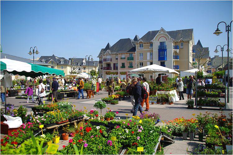 le traditionnel marché aux plantes de Dinard s'est tenu sur l'esplanade des halles le dimanche 18 avril 2010