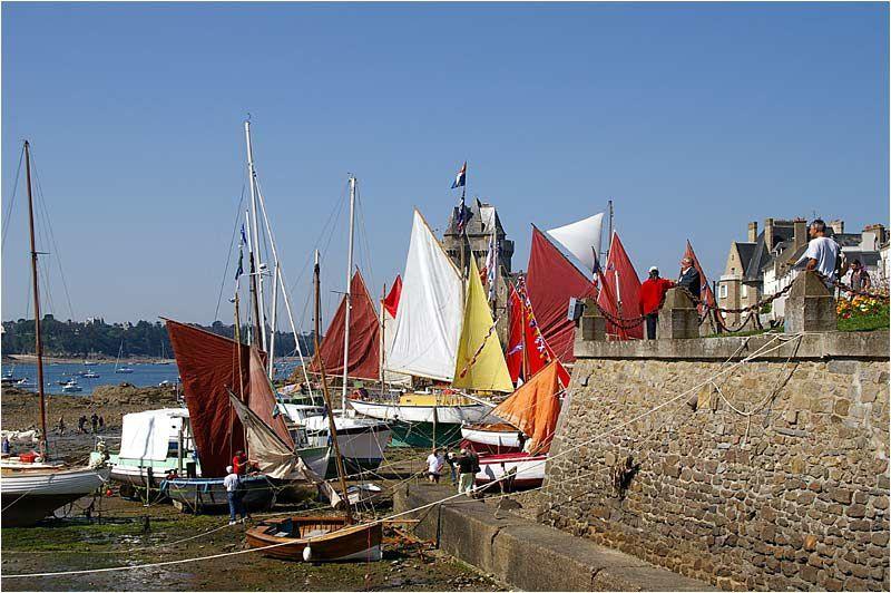 8ème rassemblement des Old Gaffers dans l'anse de Solidor à Saint Malo