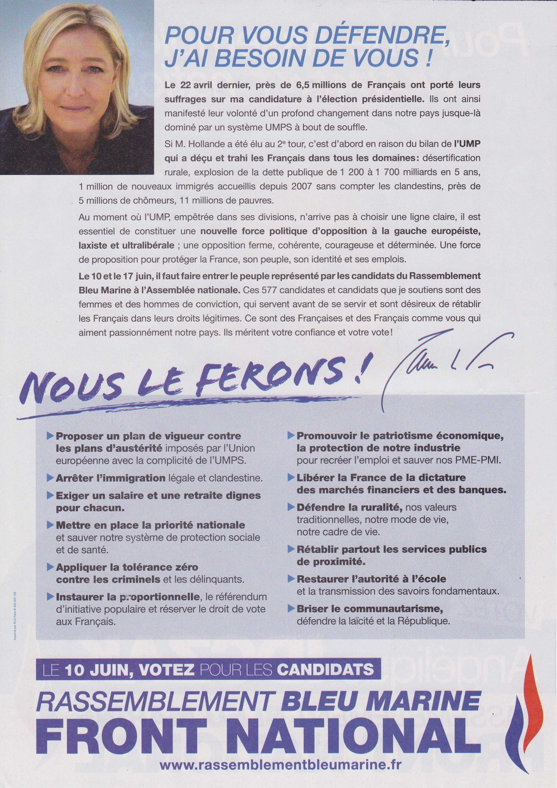 19 2012 Legislative 7eme Circonscription FN