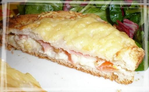 Croque monsieur camembert bacon cacahuètes (5)