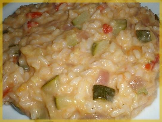 Risotto courgette tomage et mozza