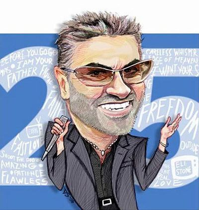 George Michael caricature 01