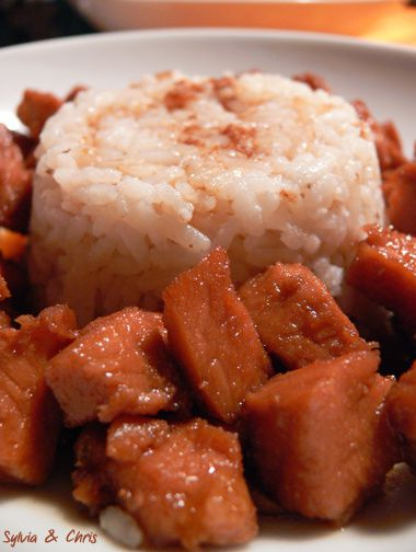 riz coco et porc au sucre