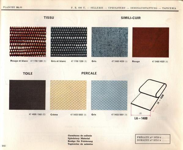 couleurs et sellerie renault fr gate la restauration. Black Bedroom Furniture Sets. Home Design Ideas