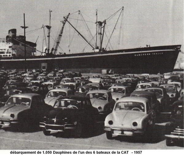 1957 la dauphine d barque aux etats unis renault fr gate la restauration. Black Bedroom Furniture Sets. Home Design Ideas