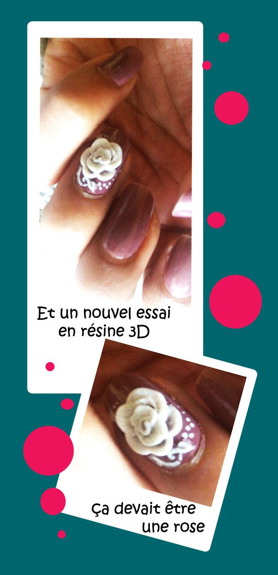 nailart 3D rose