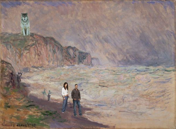 monet Heavy Sea at Pourville2