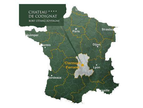 Carte de France Château de Codignat