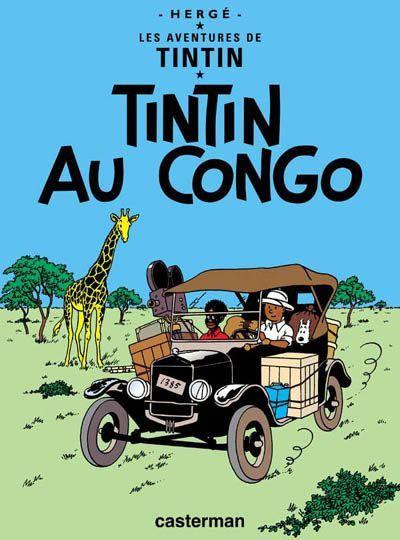 Tintin au Congo - Couverture