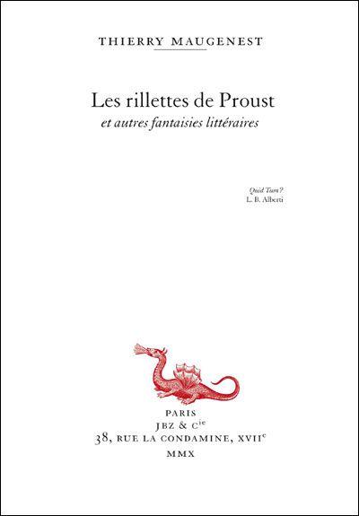 Les rillettes de Proust