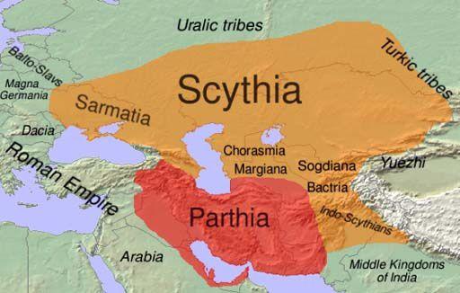 Scythians Map