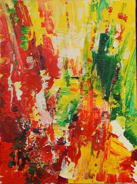 Abstraction rouge essai 34 peinture acrylique for Peintures sur toile