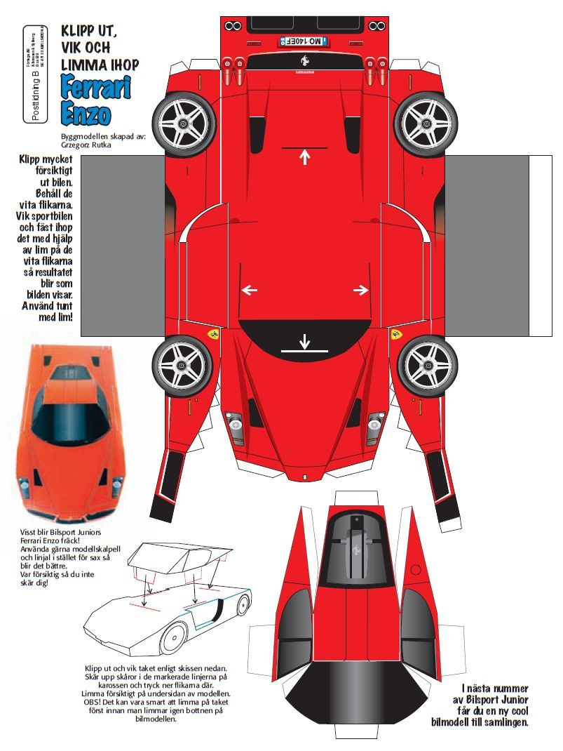 Papercraft Cars Template Car Papercraft Template