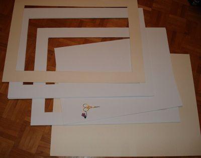 carton encadrement marquoir