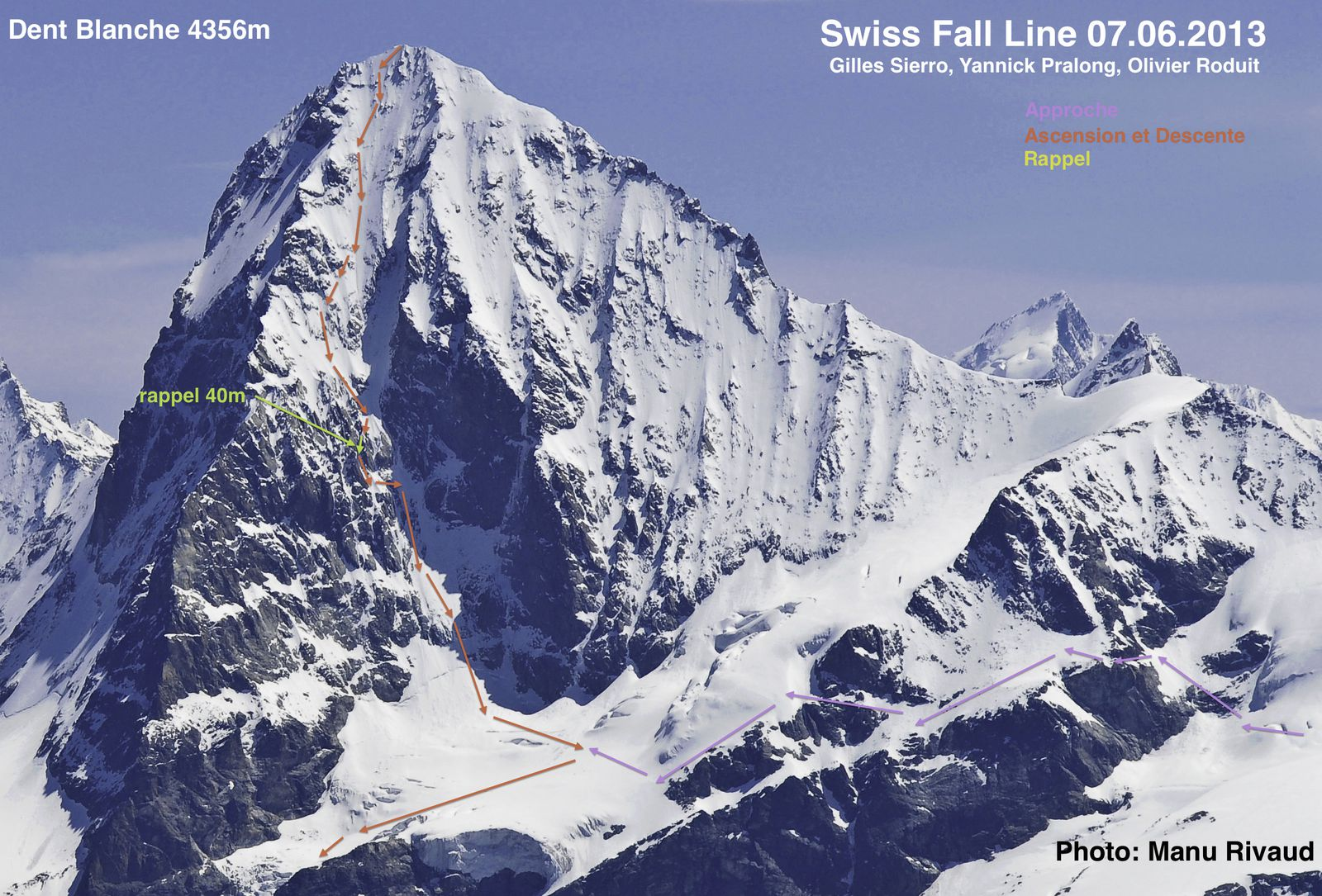 Dent blanche first ski descent of the wsw couloir gillesleskieur swiss fall line l1030851 freerunsca Image collections