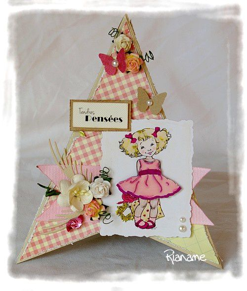 Carte Triangle Tendres Pensees