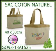 Sac coton 40x33cm avec impression transfert quadri GO93 13AT625