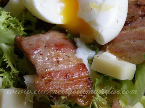Salade lyonnaise de Jaclyne