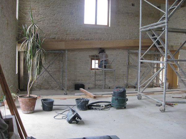058 livraison de bois structure ossature r novation for Maison sans mur porteur