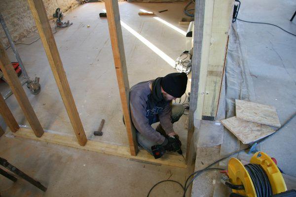 059 structure bois n 1 termin e r novation d 39 une for Cloison interieure bois