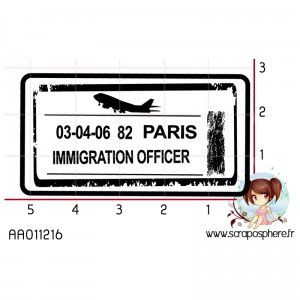 tampon-cachet-immigration-officer-paris