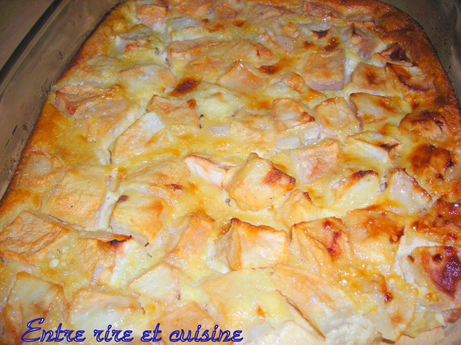 Clafoutis aux pommes et caramel au beurre sal entre - Entre rire et cuisine ...