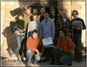 équipe de tournage LA PORTE