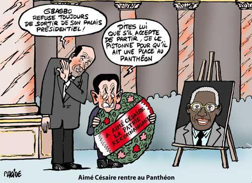 Sarko célèbre Aimé Césaire