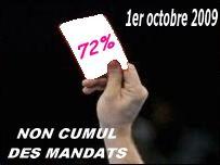 non cumul des mandats 72 pour cent