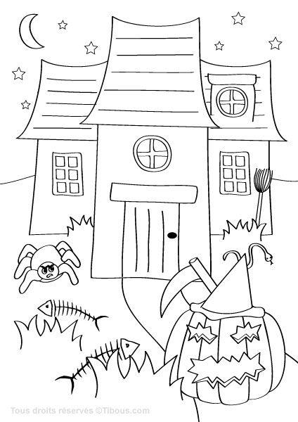 halloween,coloriage halloween,coloriages halloween pour enfants,tibous,tibou,site ludique et éducatif