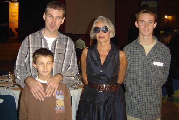 Photo : Hervé, Allan, Marie Laforêt et Antoine