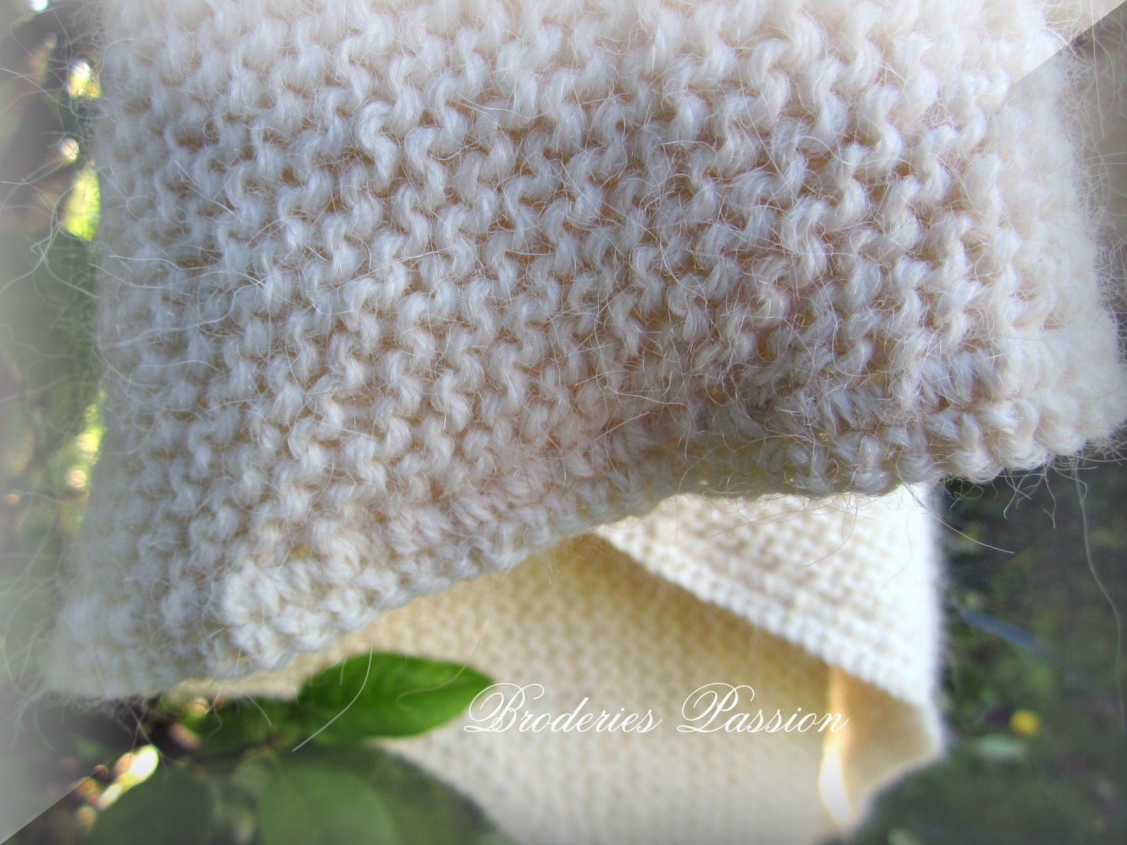 Tricot crochet broderies passion martine290 - Broderie sur tricot point mousse ...