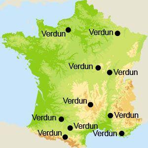 Verdun en France