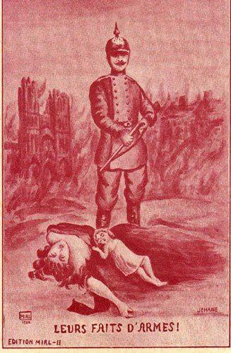 Souvent Cartes postales satiriques pendant la Première guerre mondiale  KT67