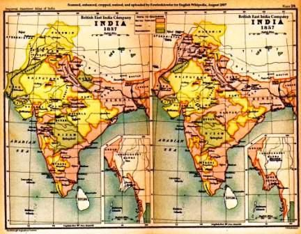 India 1837 to 1857