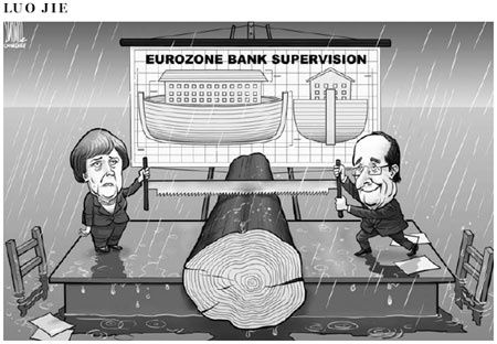 Cartoon Arche de Noé-Eurozone oct 2012 CD