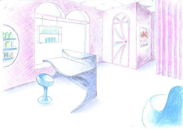 Comment dessiner un salon - Saloon dessin ...