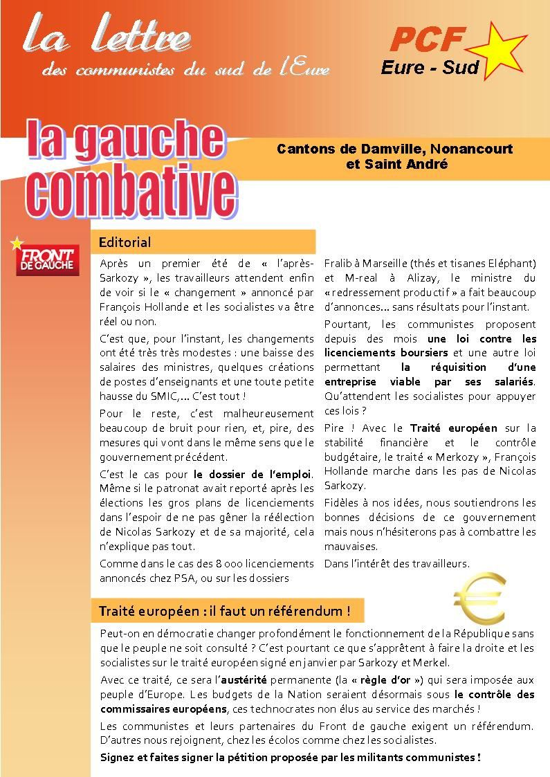 Proposition Tract Eure Sud PCF - sept 2012 -Recto