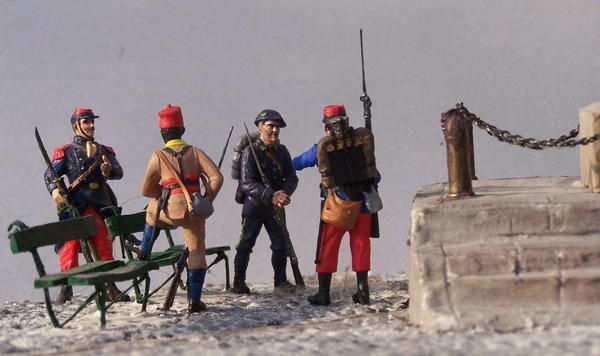 quelques vues de dioramas WW1, 1ère guerre mondiale