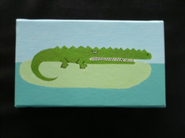 Peinture na ve monsieur crocodile le blog creacocotte for Peinture crocodile