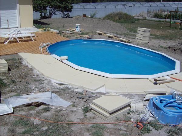 La piscine suite et fin presque la construction de for Construction piscine 58