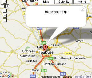 Situation géographique de mon adresse IP