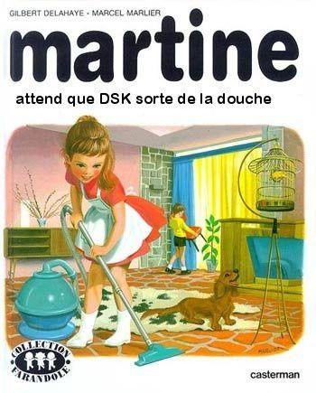 martine attend que dsk sorte de la douche