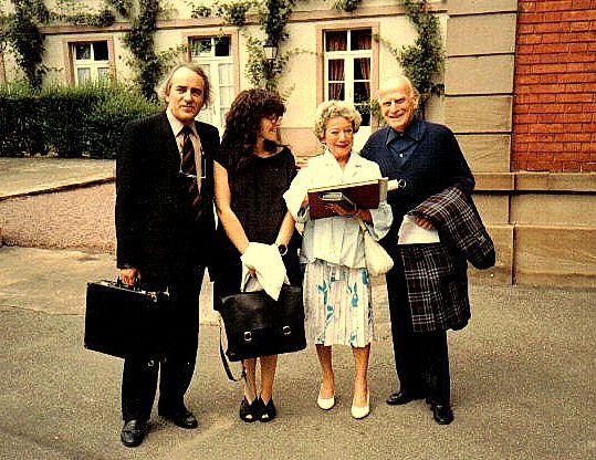 Yves Bessières, Patricia, Michelle Dandelot et Yehudi Menu