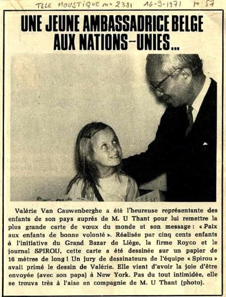 New-Yorh 1971-Vanérie Vancau-ONU-Rencontre Mr Thant
