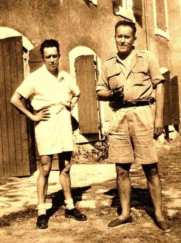 Albert Camus et René Char à Lourmarin