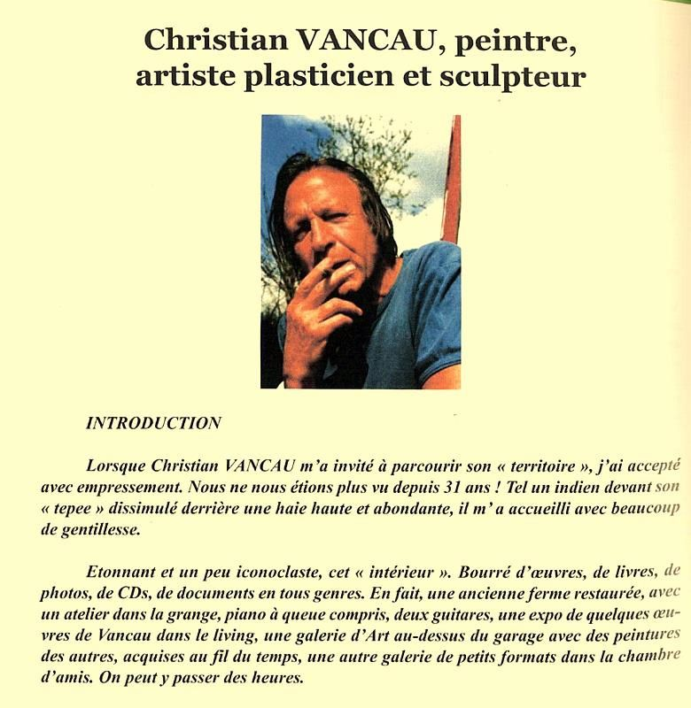 Christian Vancau-Plasticiens de Libramont-Catalogue